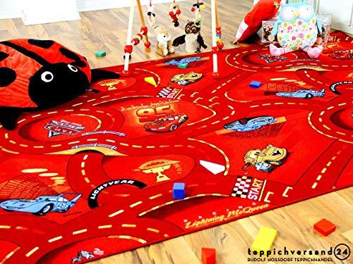 Autospielteppich Disney Cars Rot in 24 Größen