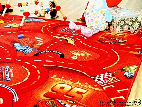 Autospielteppich Disney Cars Rot in 24 Größen - 2