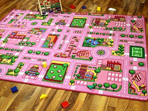 Straßenteppich (2 Straßenlandschaften) Girls Rosa - 5