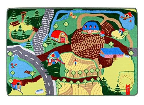 """Spielteppich Kinderteppich """"Mein Bauernhof"""" von Teppino (100x150cm)"""