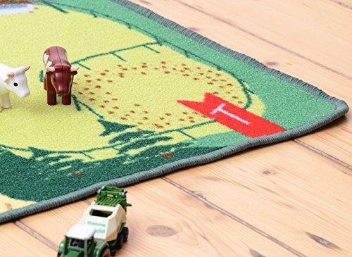 Spielteppich Kinderteppich Bauernhof