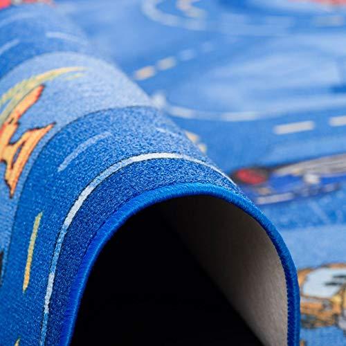Straßenspielteppich Disney Cars, blau - 3