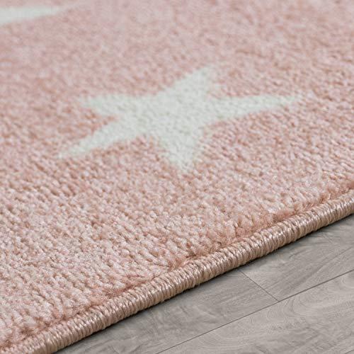 Kinderteppich Sternendesign, rosa - 2