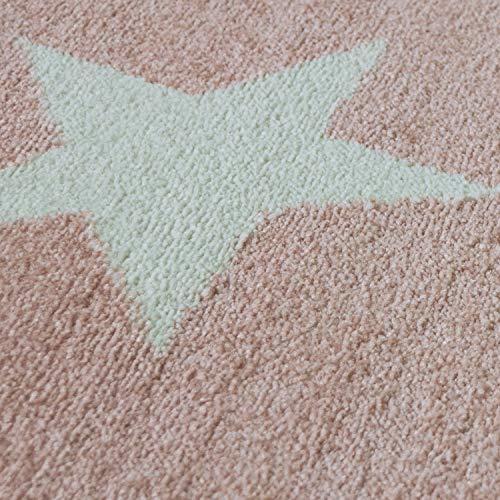 Kinderteppich Sternendesign, rosa - 3