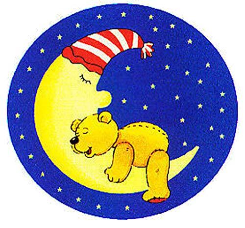 Kinderteppich Bärchen im Mond