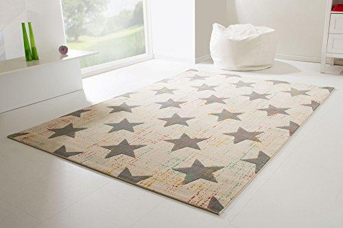 Kinderteppich Samui Sterne (creme)