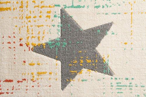 Kinderteppich Samui Sterne (creme) - 3