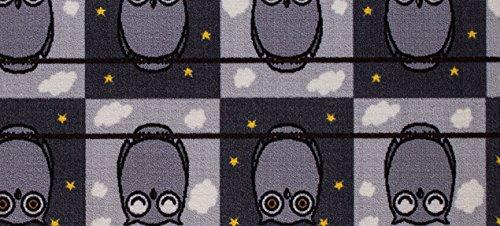 Eulen Teppich schwarz-weiß