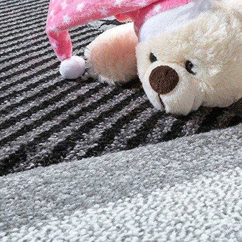 Kinderteppich Sterne (schwarz-weiß) - 2