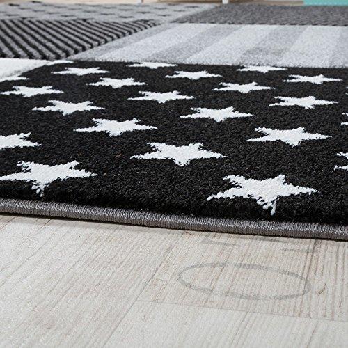 Kinderteppich Sterne (schwarz-weiß) - 3