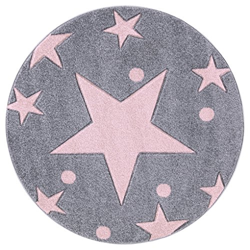 Kinderteppich Happy Rugs STARS rosa