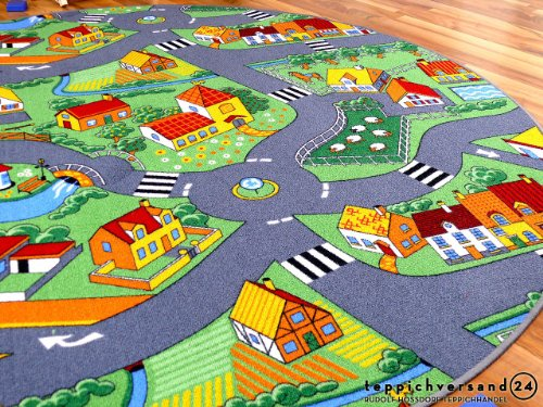 Straßenteppich Little Village rund - 3