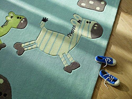 ESPRIT Kinderteppich Lucky Zoo – blau - 6