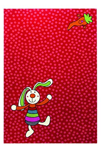 Sigikid Kinderteppich Rainbow Rabbit - rot