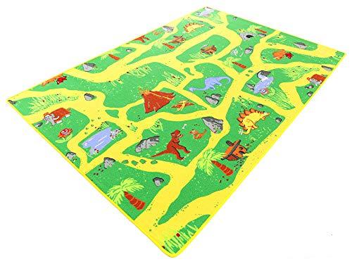 Dinosaurier HEVO® Teppich | Spielteppich | Kinderteppich 200x200 cm Oeko-Tex 100