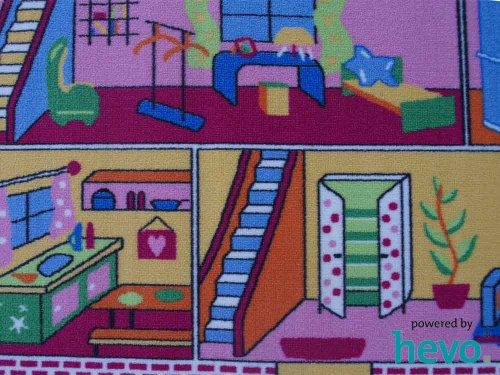 Puppenhaus HEVO® Teppich | Spielteppich | Kinderteppich 140x200 cm Oeko Tex 100 - 2