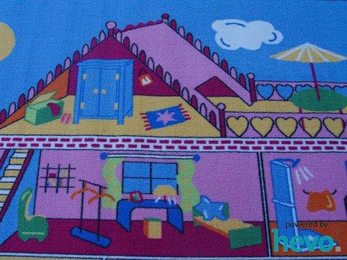 Puppenhaus HEVO® Teppich | Spielteppich | Kinderteppich 140x200 cm Oeko Tex 100 - 3