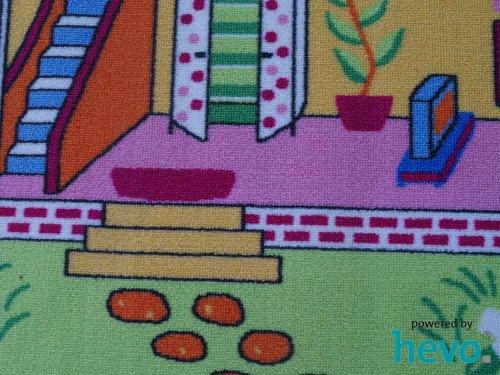 Puppenhaus HEVO® Teppich | Spielteppich | Kinderteppich 140x200 cm Oeko Tex 100 - 4