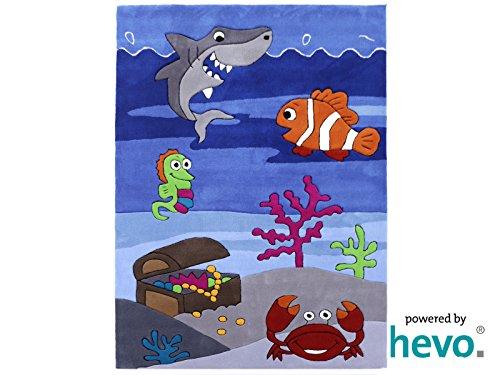Bruce Unterwasserwelt HEVO® Handtuft Teppich | Kinderteppich | Spielteppich 90x150 cm Öko Tex 100 - 2