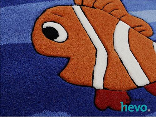 Bruce Unterwasserwelt HEVO® Handtuft Teppich | Kinderteppich | Spielteppich 90x150 cm Öko Tex 100 - 7