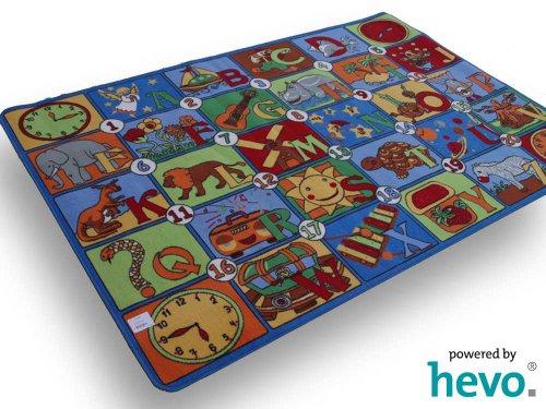 123 HEVO® Teppich | Spielteppich Kinderteppich 133x200 cm Oeko-Tex 100