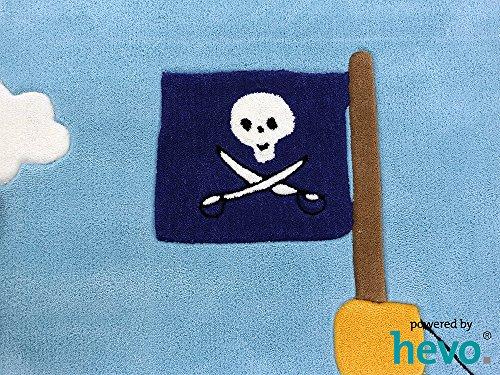 Captain Jack HEVO® Handtuft Teppich | Kinderteppich | Spielteppich | Oeko Tex 100 110x170 cm - 3