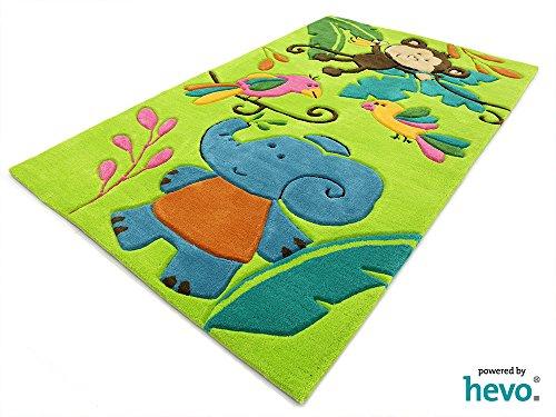 Bernadette Handtuft HEVO® Kinderteppich | Spielteppich limette 150x220 cm Öko Tex 100