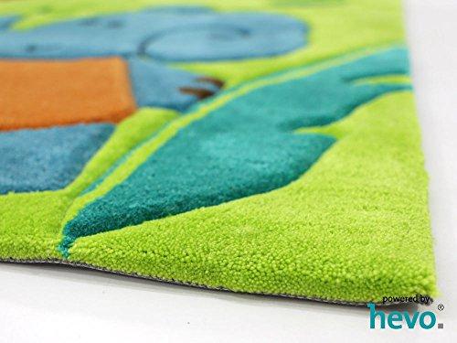 Bernadette Handtuft HEVO® Kinderteppich | Spielteppich limette 150x220 cm Öko Tex 100 - 5