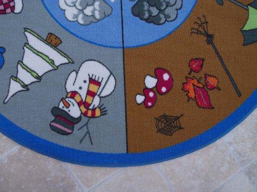 Jahreszeiten HEVO® Teppich | Spielteppich Kinderteppich 133 cm Ø Rund Oeko-Tex 100 - 4