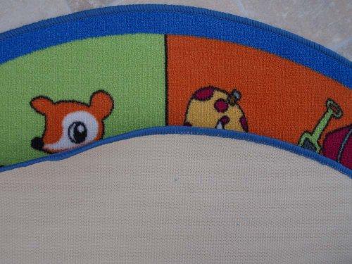 Jahreszeiten HEVO® Teppich | Spielteppich Kinderteppich 133 cm Ø Rund Oeko-Tex 100 - 5