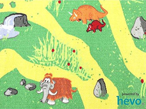 Dinosaurier HEVO® Teppich | Spielteppich | Kinderteppich 160 cm Ø Rund Oeko-Tex 100 - 3