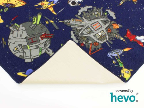 Space blau Weltraum HEVO® Teppich | Spielteppich | Kinderteppich 145x200 cm Oeko-Tex 100 - 7