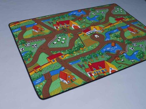 Duo Play Straßenteppich Beidseitig mit zwei Straßenlandschaften 135×200 cm - 2