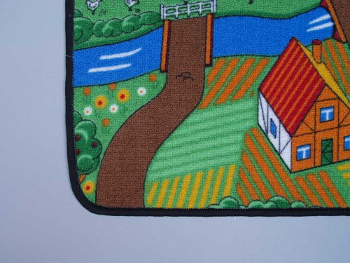 Duo Play Straßenteppich Beidseitig mit zwei Straßenlandschaften 135×200 cm - 7