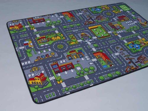 Duo Play Straßenteppich Beidseitig mit zwei Straßenlandschaften 135×200 cm - 3