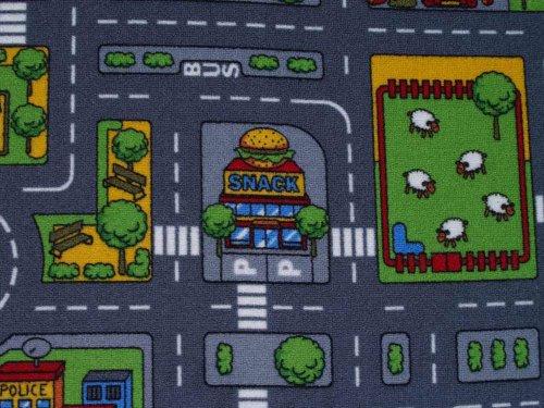 Duo Play Straßenteppich Beidseitig mit zwei Straßenlandschaften 135×200 cm - 4