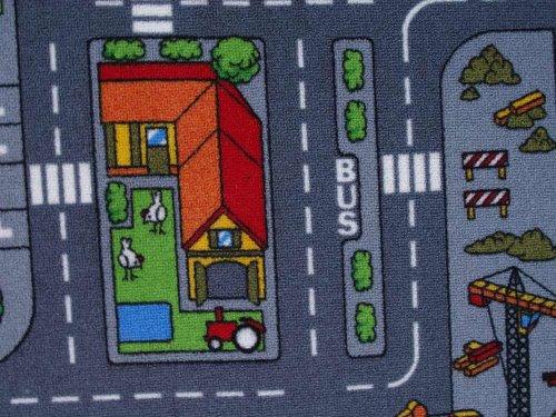 Duo Play Straßenteppich Beidseitig mit zwei Straßenlandschaften 135×200 cm - 6
