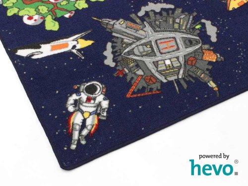 Space blau Weltraum HEVO® Teppich | Spielteppich | Kinderteppich 200 cm Ø Rund Oeko-Tex 100 - 6