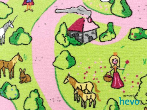 Märchenland HEVO® Mädchen Teppich | Spielteppich | Kinderteppich 160 cm Ø Rund Oeko-Tex 100 - 4