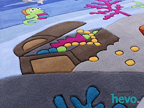 Bruce Unterwasserwelt HEVO® Handtuft Teppich | Kinderteppich | Spielteppich 150x220 cm Öko Tex 100 - 6