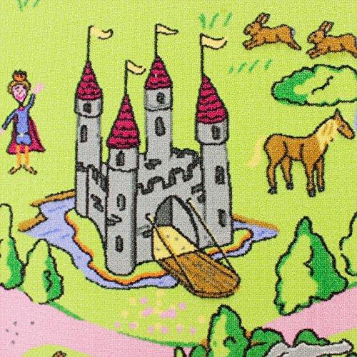 Märchenland HEVO® Mädchen Teppich | Spielteppich | Kinderteppich 200x280 cm Oeko-Tex 100