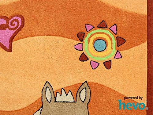 Penny das Pony orange HEVO® Handtuft Teppich | Kinderteppich | Spielteppich 90x150 cm Öko Tex 100 - 4