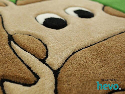Penny das Pony orange HEVO® Handtuft Teppich | Kinderteppich | Spielteppich 90x150 cm Öko Tex 100 - 5