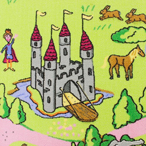Märchenland HEVO® Mädchen Teppich | Spielteppich | Kinderteppich 200x200 cm Oeko-Tex 100