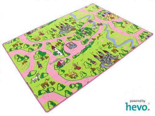 Märchenland HEVO® Mädchen Teppich | Spielteppich | Kinderteppich 200x200 cm Oeko-Tex 100 - 2
