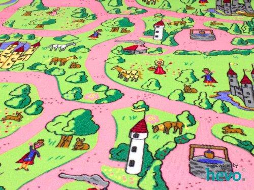 Märchenland HEVO® Mädchen Teppich | Spielteppich | Kinderteppich 200x200 cm Oeko-Tex 100 - 3
