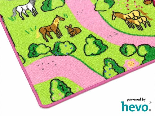 Märchenland HEVO® Mädchen Teppich | Spielteppich | Kinderteppich 200x200 cm Oeko-Tex 100 - 7