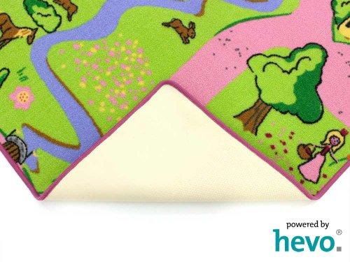 Märchenland HEVO® Mädchen Teppich | Spielteppich | Kinderteppich 200x200 cm Oeko-Tex 100 - 8