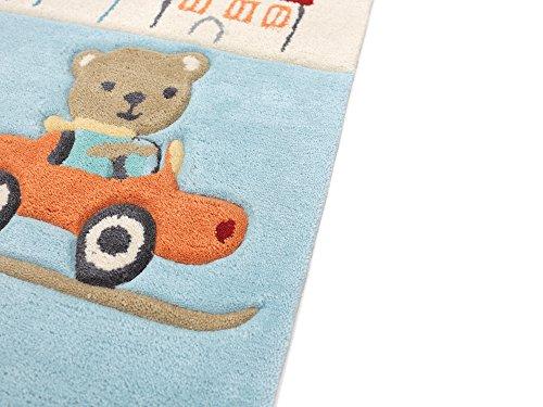 Animal City blau HEVO® Handtuft Teppich | Kinderteppich | Spielteppich 150x220 cm Textiles Vertrauen Oeko Tex 100 - 4