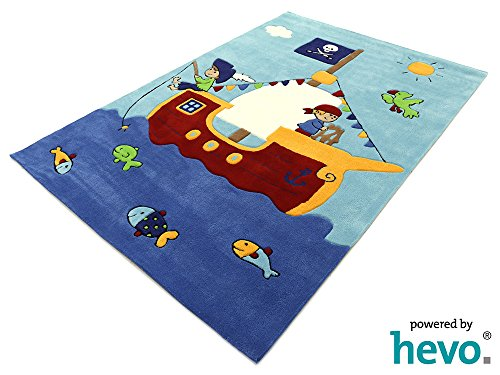 Captain Jack HEVO® Handtuft Teppich | Kinderteppich | Spielteppich | Oeko Tex 100 150x220 cm